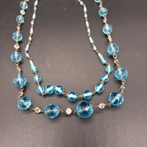 Jewelry - Antique Deco Faceted Czech Glass Bead Necklace Set